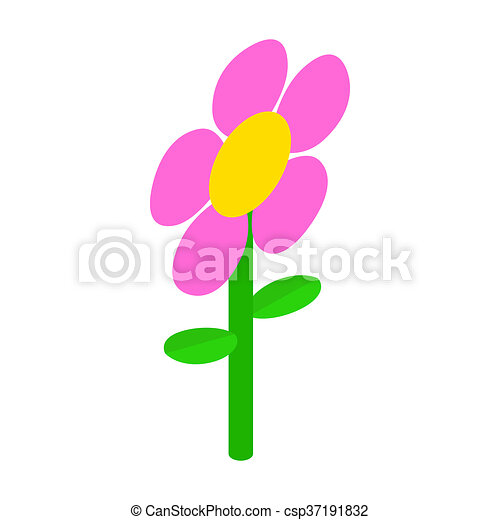 Pink flower icon isometric 3d style pink flower icon in isometric pink flower icon isometric 3d style csp37191832 mightylinksfo