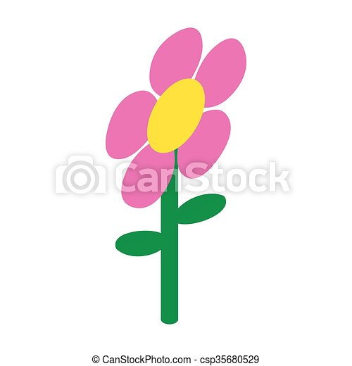 Pink flower icon isometric 3d style pink flower icon in vector pink flower icon isometric 3d style csp35680529 mightylinksfo Choice Image