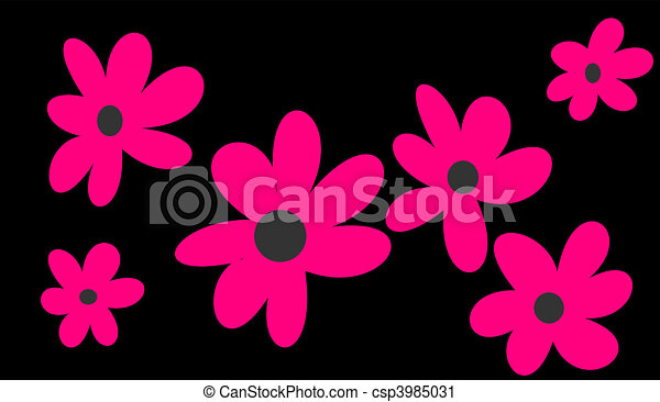 Pink flowers on black background pink flowers on black background mightylinksfo