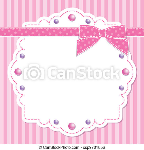 pink frame with bow - csp9701856