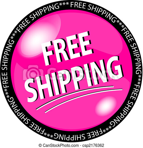 illustration of a pink free shipping button clip art search rh canstockphoto com free shopping clipart images free shipping clipart transparent