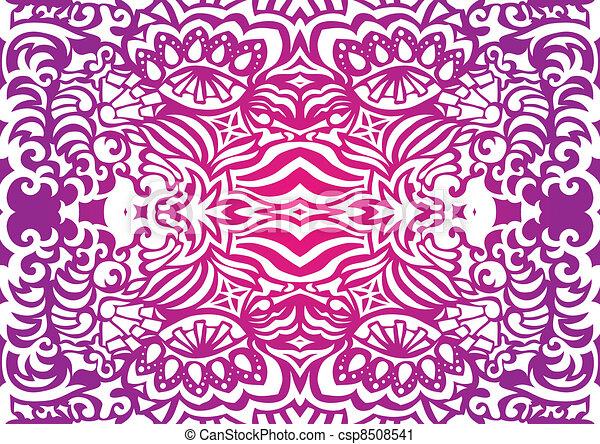 Pink funky seamless pattern - csp8508541