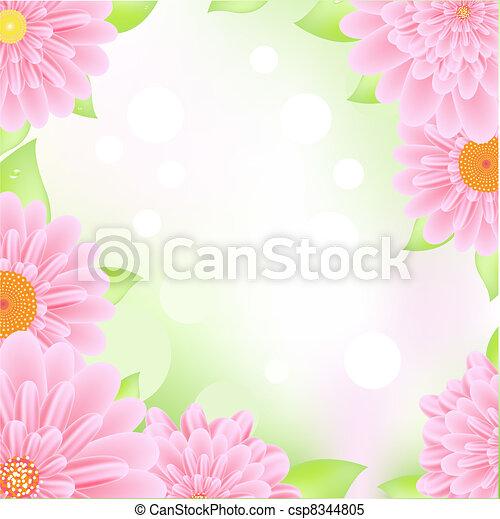 Pink Gerbers Frame - csp8344805