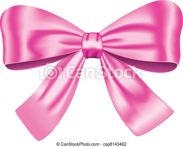 Pink gift bow - csp8143462