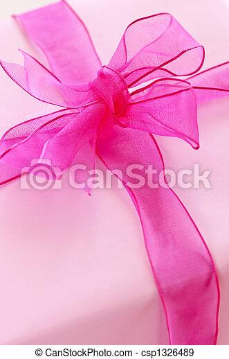 Pink gift box - csp1326489