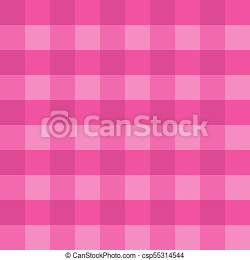 Pink Gingham Tablecloth Seamless Vector Background Pattern Design
