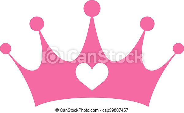 pink girly princess royalty crown with heart jewels clipart vector rh canstockphoto com girly clipart black and white girl clip art black and white