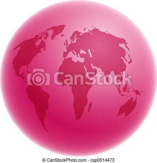 Pink Globe - csp0014473