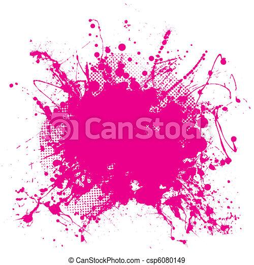 Pink grunge splat - csp6080149