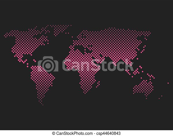 Pink halftone world map of small dots in diagonal eps vector pink halftone world map of small dots in diagonal arrangement bilinear horizontal gradient simple publicscrutiny Gallery
