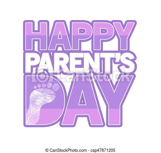 Superior Pink Happy Parents Day Sign Illustration Design