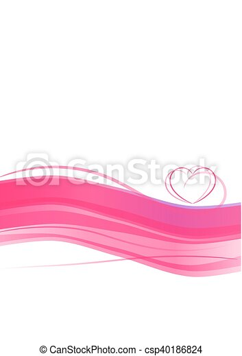 Pink heart abstract - csp40186824