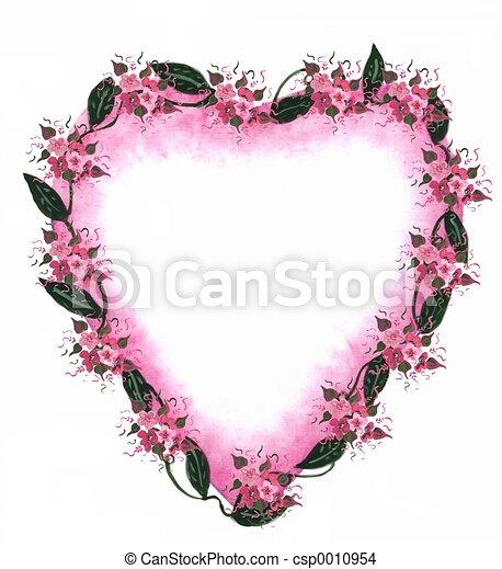 Pink Heart border - csp0010954