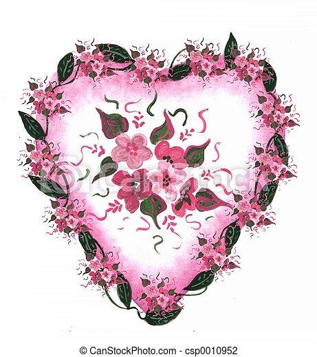 Pink Heart floral - csp0010952