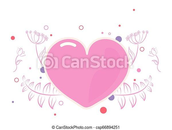pink heart girl power - csp66894251