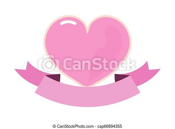 pink heart girl power - csp66894355