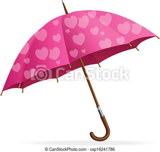Pink Umbrella Clip Art Pink heart umbr...