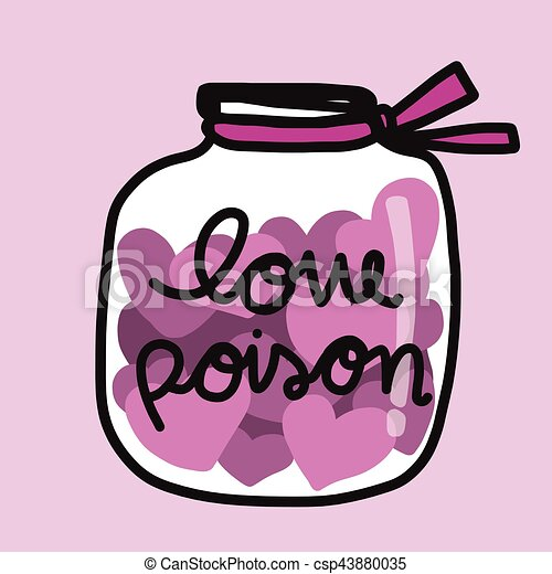 pink hearts in love poison jar cartoon illustration vectors search rh canstockphoto com poison clipart free poison clipart black and white