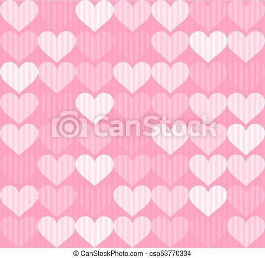 pink hearts texture design - csp53770334