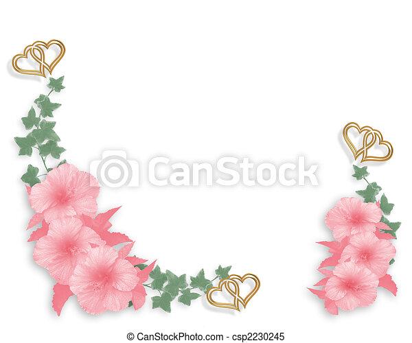 Pink hibiscus wedding or party invitation image and illustration pink hibiscus wedding or party invitation csp2230245 stopboris Gallery