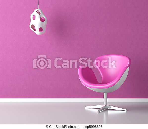 pink interior wall with copy space - csp5998695