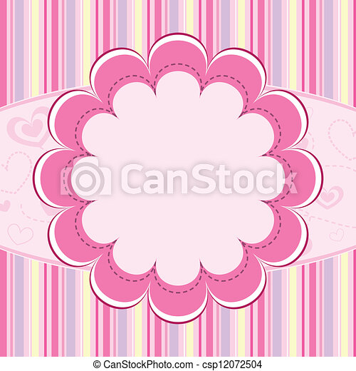 Pink Kid Background Pretty Blue Baby Background With Place For Text