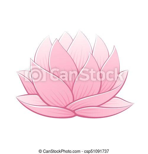 Pink lotus flower vector illustration beautiful realistic waterlily pink lotus flower vector illustration beautiful realistic waterlily drawing mightylinksfo