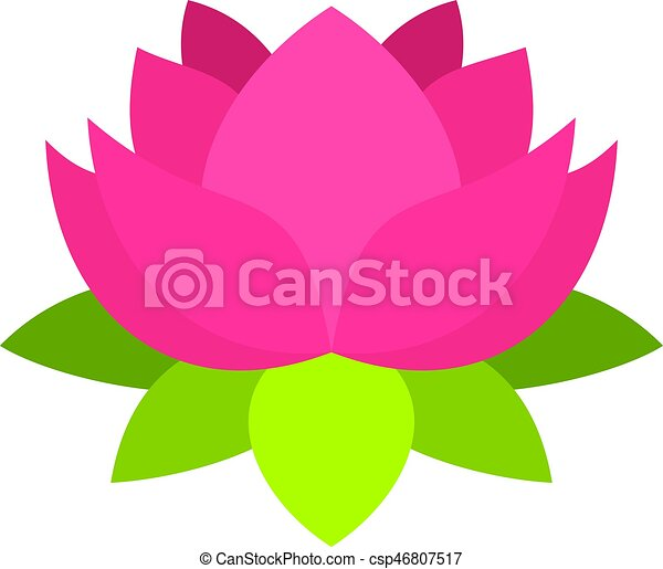 pink lotus flower icon isolated pink lotus flower icon flat rh canstockphoto com lotus flower vector free lotus flower vector art free