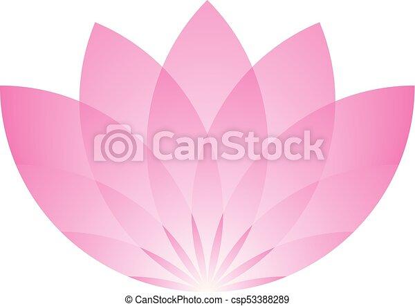 Pink lotus flower icon symbol of yoga and beauty vector illustration mightylinksfo