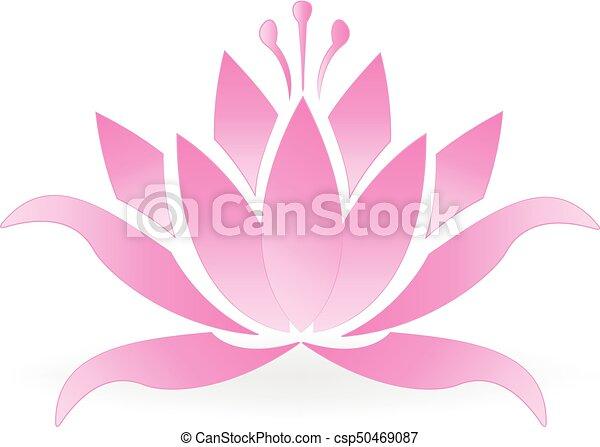 Pink lotus flower logo - csp50469087