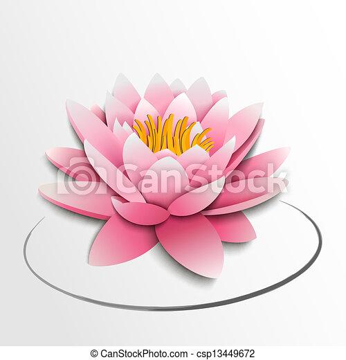 Pink lotus flower paper cutout pink lotus flower paper cutout csp13449672 mightylinksfo