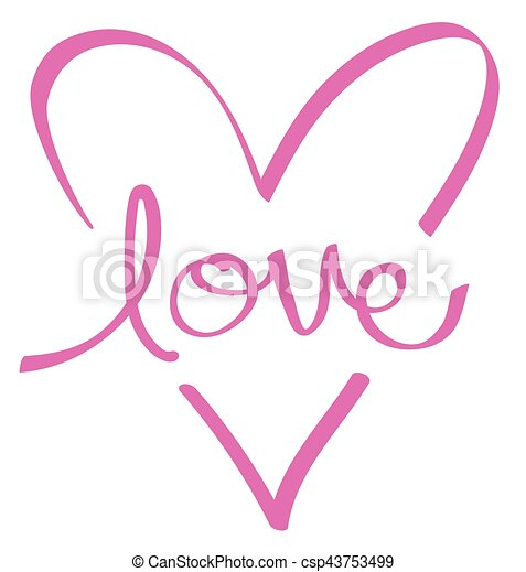 Pink Love Heart - csp43753499