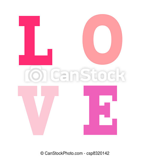 Pink Love Letters - csp8320142