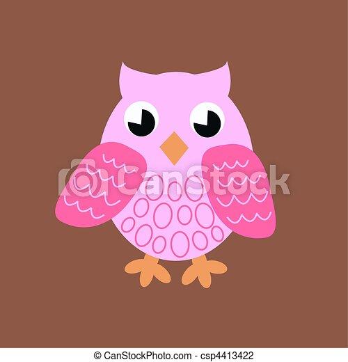 pink owl - csp4413422