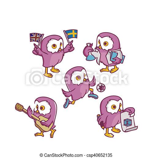 pink owl - csp40652135