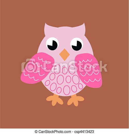pink owl - csp4413423