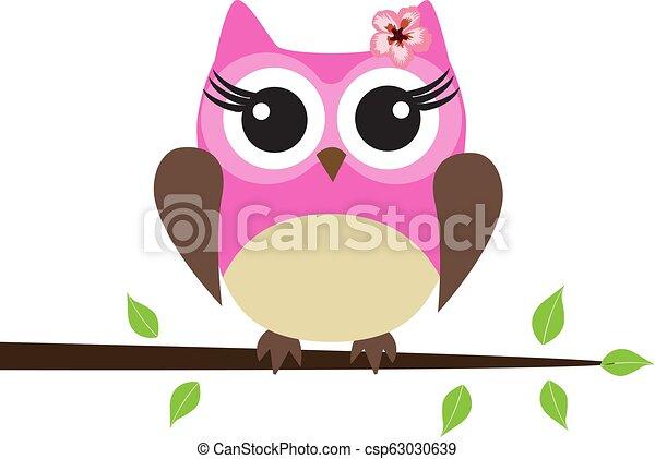 Pink Owl - csp63030639