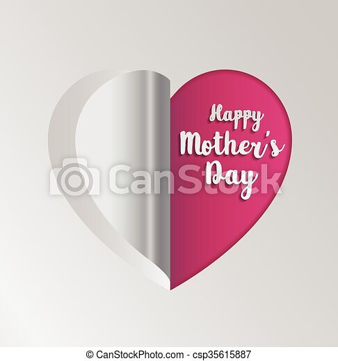 pink paper heart folding mother s day greeting card