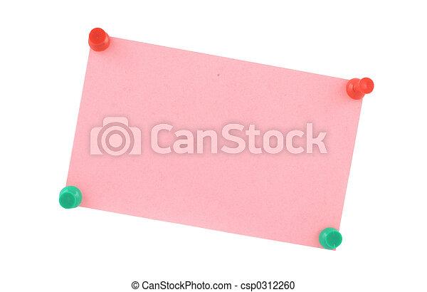pink paper sheet  pi - csp0312260