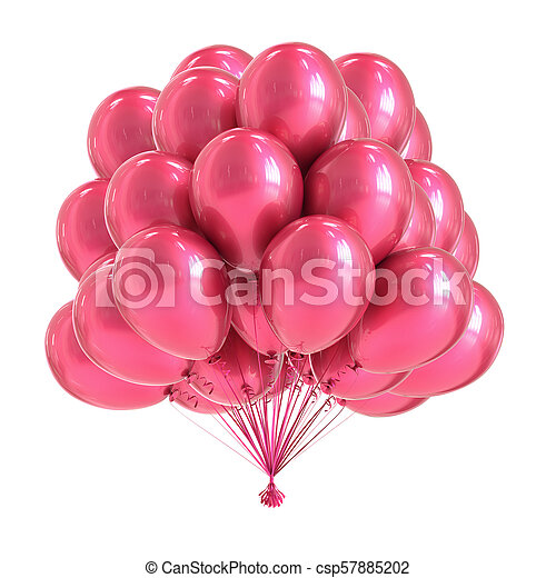 Pink Party Balloon Bunch Romantic Colorful Helium Balloons