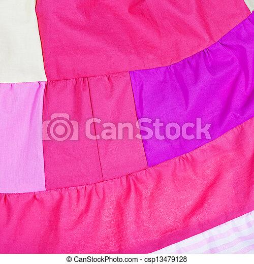 pink patchwork quilt - csp13479128