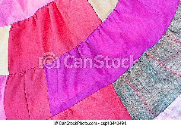 pink patchwork quilt - csp13440494