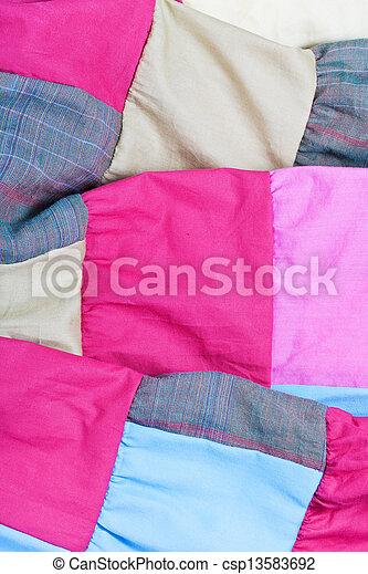 pink patchwork quilt - csp13583692