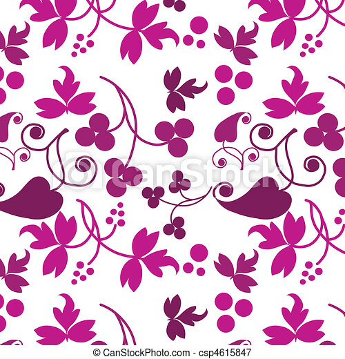 pink pattern of flowers on white background - csp4615847