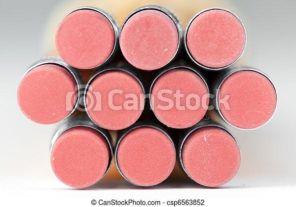 Pink pencil erasers - csp6563852