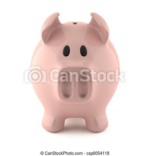 pink piggy bank - csp6054118