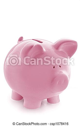 Pink Piggy Bank - csp1078416