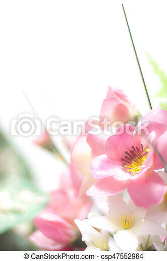 Pink plastic flowers pink plastic flower bokeh on white background pink plastic flowers csp47552964 mightylinksfo
