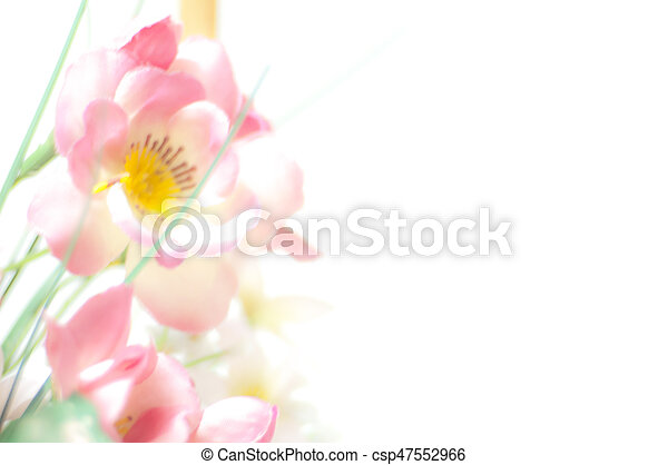 Pink plastic flowers pink plastic flower bokeh on white background pink plastic flowers csp47552966 mightylinksfo