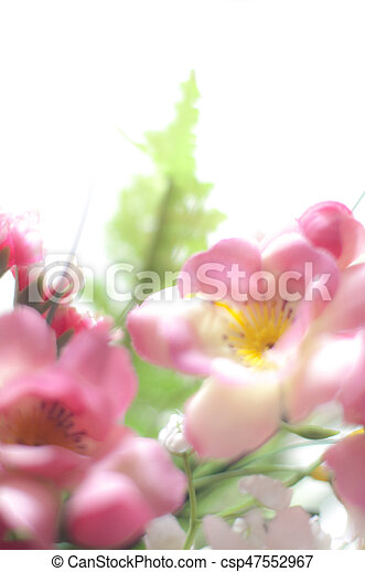 Pink plastic flowers pink plastic flower bokeh on white background pink plastic flowers csp47552967 mightylinksfo